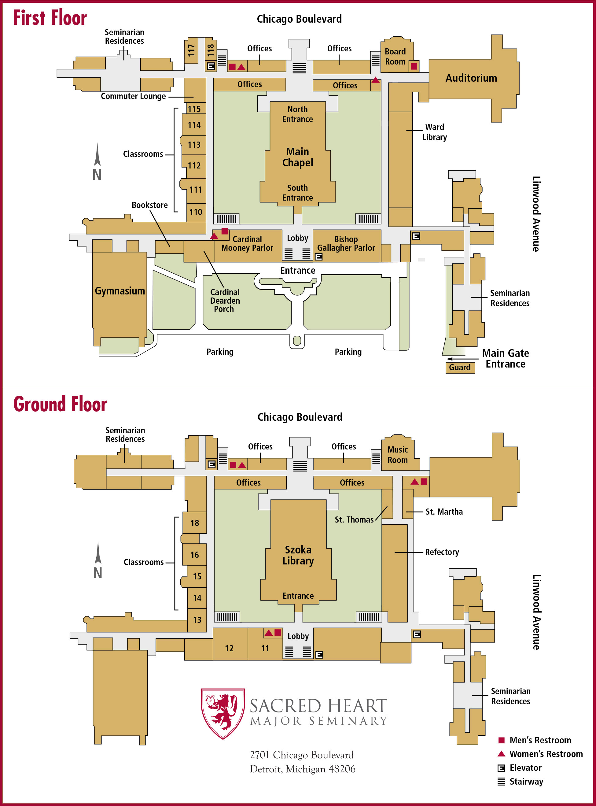 Sacred Heart Major Seminary Building Map Layout